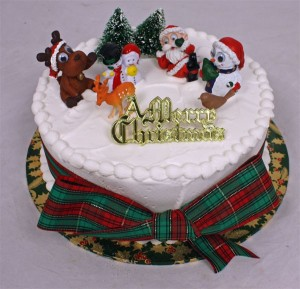 royal icing christmas cake