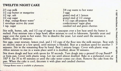 twelfth night cake recipe