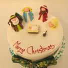 velvet iced christmas cake