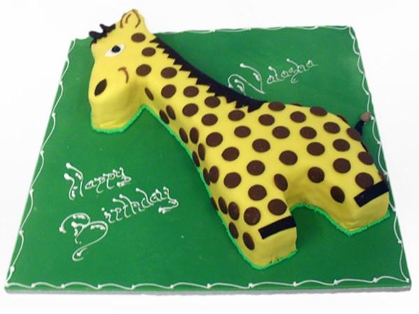 How To Decorate A Giraffe Cake