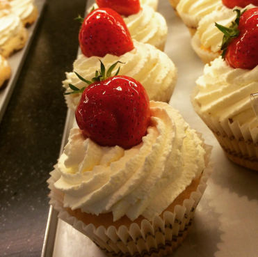 Dunn's Strawberries and Cream Cupcake