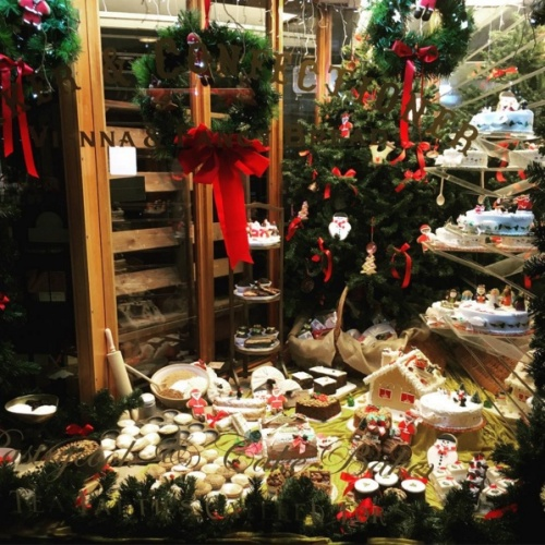 Dunns Bakery on Instagram- -Our new Christmas window is now in, stop and take a peek when you're passing! #Christmas2015 #crouchend #eatlocal #n8-.clipular