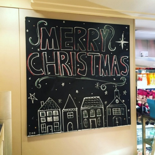 Dunns Bakery on Instagram- -The festive blackboard is in! Only 43 days to go! -------- #crouchend #christmas2015-.clipular